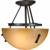 Volume Lighting V5342 Lodge 2-Light Semi-Flush Ceiling Fixture - frontier iron