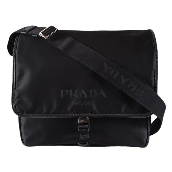 32c2b7a8c754bc Prada Men's Black Nylon Leather Tracolla 2VD166 Messenger Crossbody Bag