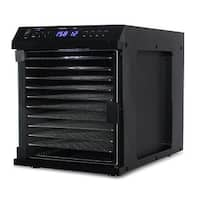 DELLA Deluxe Food Dehydrator Meat or Beef Jerky Maker, Fruit & Vegetable Dryer with 11 Slide Out Tray & Transparent Door