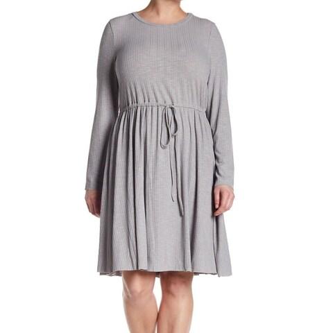 Glamorous Curve Womens Drawstring Long Sleeve Tunic Dress