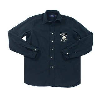 Polo Ralph Lauren NEW Blue Mens Size Large L Oxford Button Down Shirt