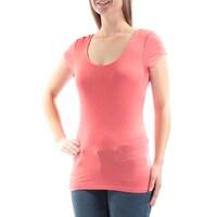 0b7fa327fd Shop ULTRA FLIRT  13 Womens New 3414 Coral Short Sleeve T-Shirt S ...
