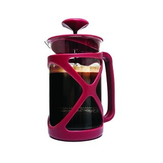 Primula PCRE-2306 Cafe Color Tempo French Press, 6 cups, Red