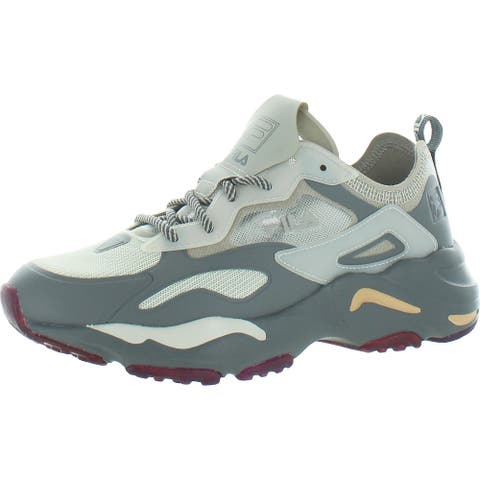 Fila Womens Ray Tracer Lite Walking Shoes Crossfit Exercise - Moonbeam/Dove/Eiffle Tower