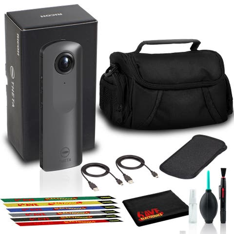 Ricoh THETA V 360 4K Spherical VR Camera with Case, Camera Bag, and Cable Ties