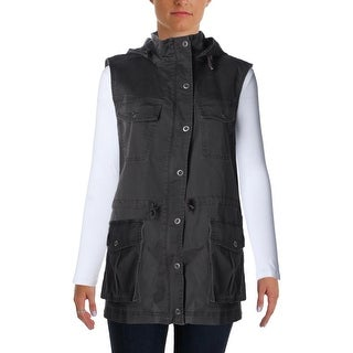 Jag Womens Denim Hooded Vest - M