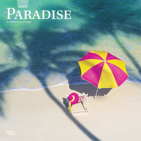 Paradise 2020 12 x 12 Inch Monthly Square Wall Calendar, Scenic Travel Nature Beach