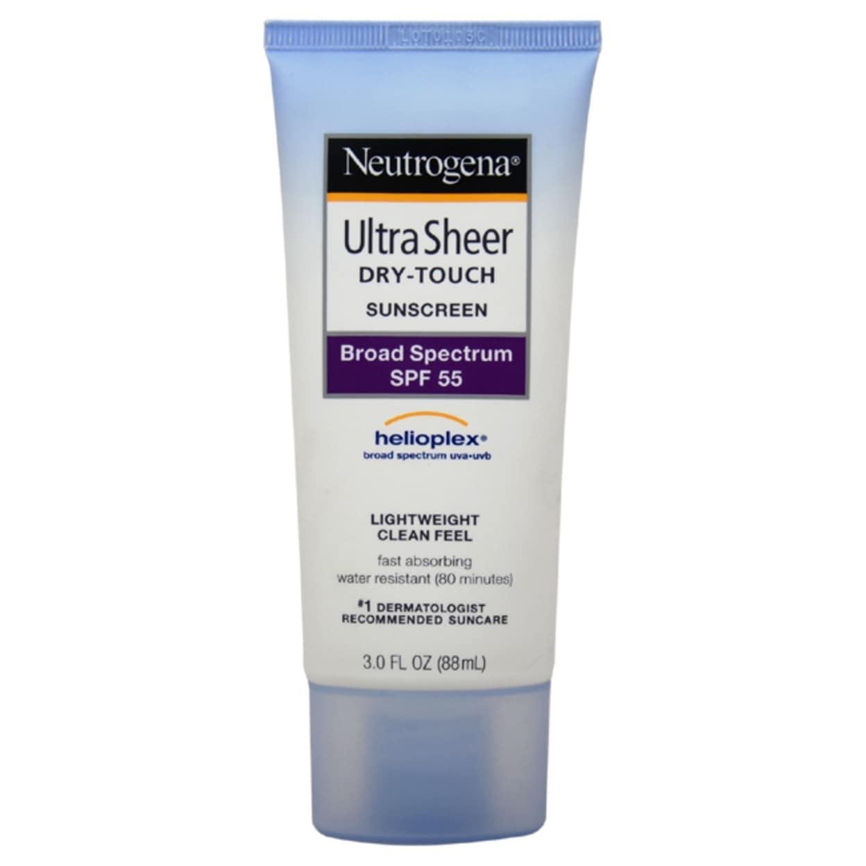 Neutrogena Ultra Sheer Dry-Touch Sunblock Spf-55 Sunscreen 3 Oz