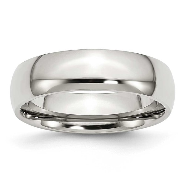 Chisel Polished Stainless Steel Ring (6.0 mm) - Sizes 6-13