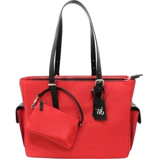 WIB LIB14RE WIB Liberator Carrying Case (Tote) for 14.1 Notebook - Red - MicroFiber, Faux Leather Trim - Handle