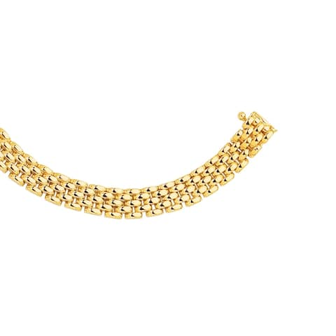 14K Gold 6.5mm Panther Bracelet By Gioelli