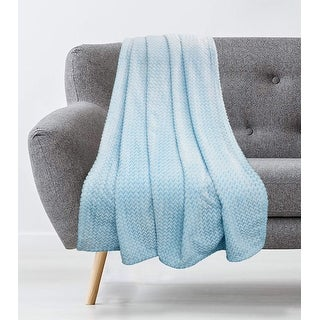 Asterid Grid Plush Throw