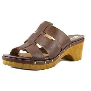 Naturalizer Gramercy Women Open Toe Synthetic Brown Platform Sandal