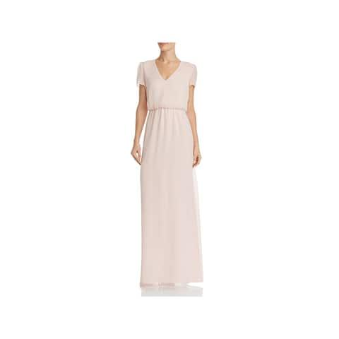 WAYF Womens Anna Maxi Dress Blouson Casual