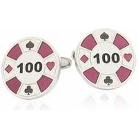 Red Poker Chip Casino Game Gambling Cufflinks