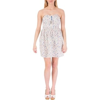 Be Bop Womens Juniors Sundress Strapless Floral