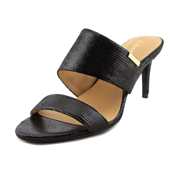 Calvin Klein Lanoe Women Open Toe Synthetic Black Sandals