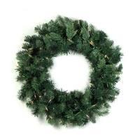 """36"""" Pre-Lit Natural Frasier Fir Artificial Christmas Wreath - Clear Dura Lights - green"""