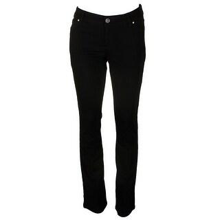 Inc International Concepts Deep Black Curvy-Fit Boot Leg Jeans