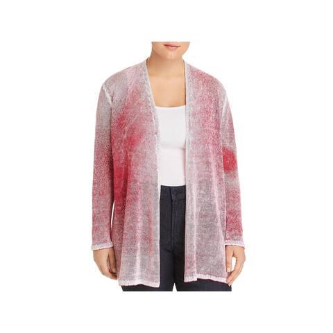 Nic + Zoe Womens Plus Cardigan Top Knit Casual