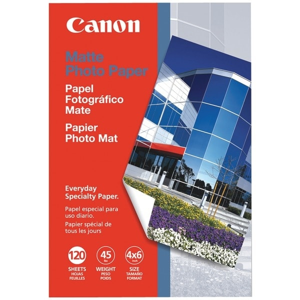 "Canon 7981A014Aa Matte Photo Paper (4"" X 6""; 120 Pk)"