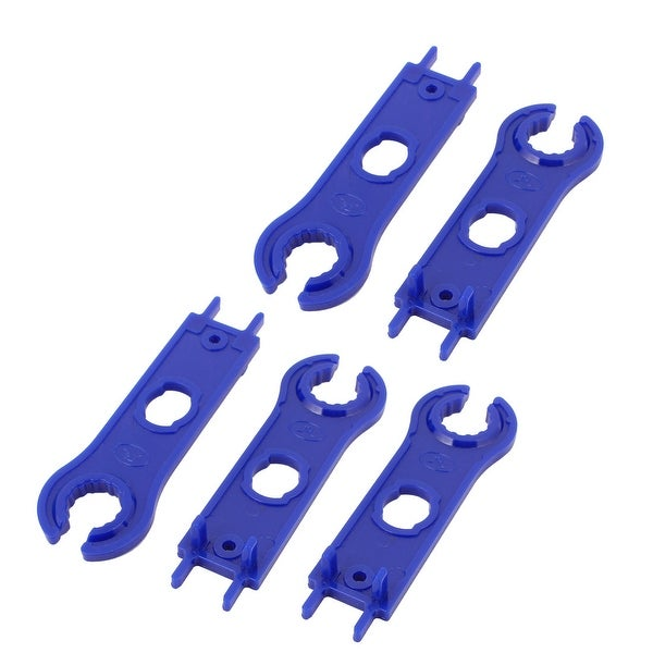 5pcs MC4 Solar Panel Connector Disconnecting Tool Spanners Wrench Blue