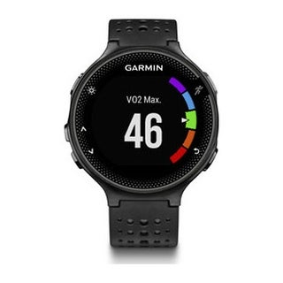 Refurbished Garmin Forerunner 235 Black & Gray GPS Running Watch w/ Tracks Distance, Time & Heart Rate