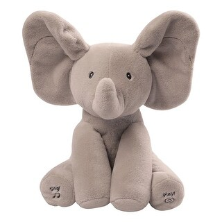 Peek-a-Boo Animated Talking and Singing Elephant - gray