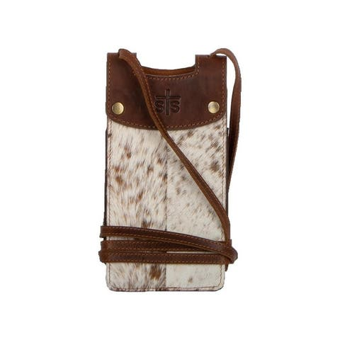 StS Ranchwear Western Handbag Crossbody Cell Phone Brown - Distressed Brown - One Size