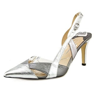 J. Renee Pasco Pointed Toe Leather Slingback Heel