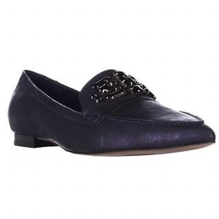 Donald J Pliner Aldenas Jeweled Loafer Flats - Azul