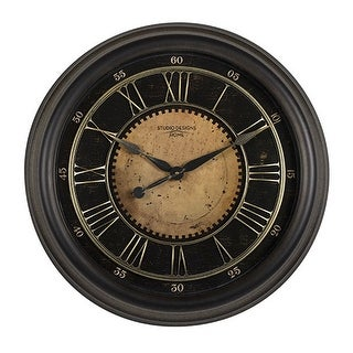 "Offex Home 24"" Classic Villa Wall Clock in Antique Bronze"