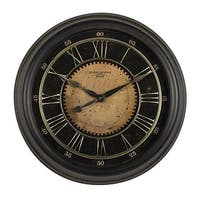"Offex Home 24"" Classic Villa Wall Clock in Antique Bronze"