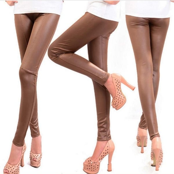 1ccaa89024e Shop Hot Fashionable Autumn Winter Faux Leather Leggings Pants For ...