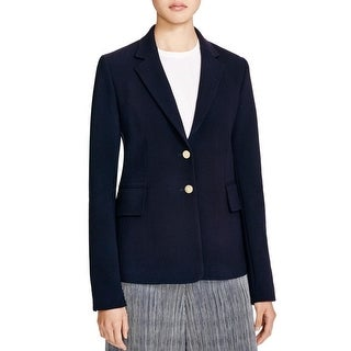 Theory Womens Teshonna Two-Button Blazer Wool Notch Collar