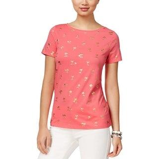 Tommy Hilfiger Womens T-Shirt Metallic Casual - s