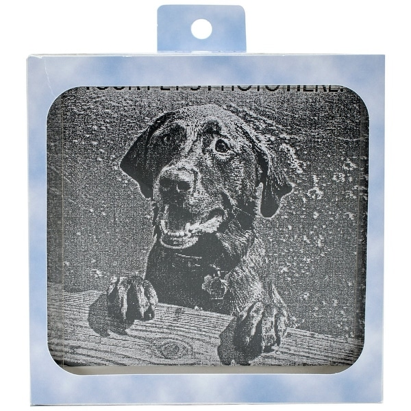 Pet Memory Stones, Memorial Headstone, Small with Customizable Photo Frame
