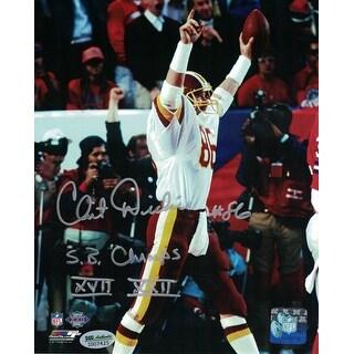 Clint Didier Autographed Washington Redskins 8x10 Photo 2x SB Champs SGC