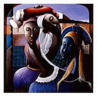 ''Trilogy of Expression II'' by Shubert Denis African American Art Print (24 x 23.75 in.)