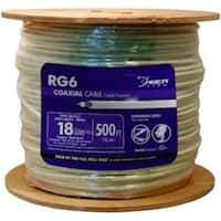 Southwire 56918345 500 ft. RG6 Coaxial Cable, White