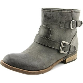 Famous Name Brand Jo Jo Women  Round Toe Synthetic Brown Ankle Boot