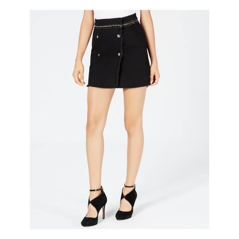 GUESS Womens Black Wilma Denim Mini Skirt Size 31 Waist