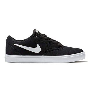 brand new 487e0 45779 Shop Nike Womens Wmns Sb Check Solarsoft Black White Pure Platinum Size 10  - Free Shipping Today - Overstock - 25639860