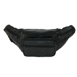 CTM® Patch Leather Small Waist Pack - One size