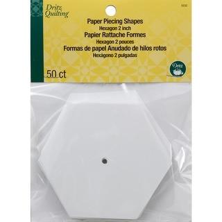 """Dritz Quilting Paper Piecing Hexagon-2"""" 50/Pkg"""