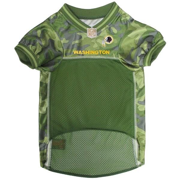 Shop NFL Washington Redskins Camouflage Pet Jersey For Dogs   Cats ... 805ba7da4