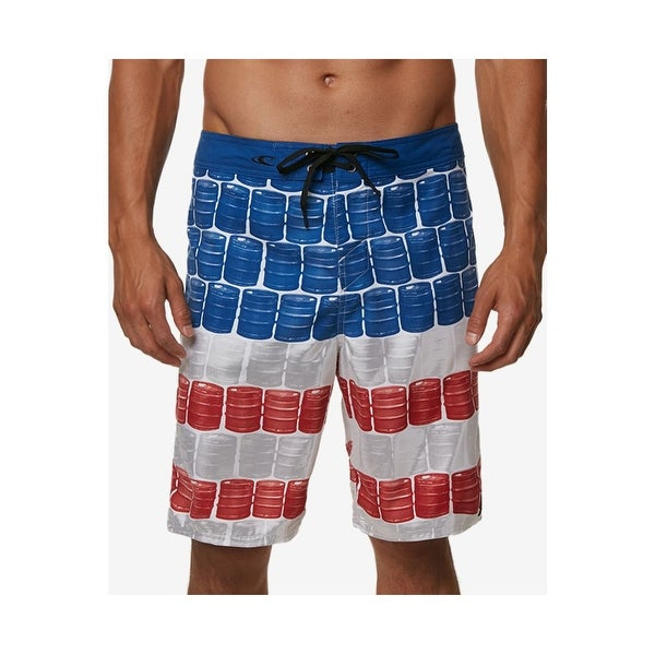 f2184fa923 Shop O'Neill Red White Blue Mens Size 30 Board Surf Kegleg Print Shorts - Free  Shipping On Orders Over $45 - Overstock - 28071117