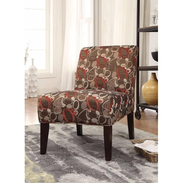 Accent Chair, Stylish Fabric Print