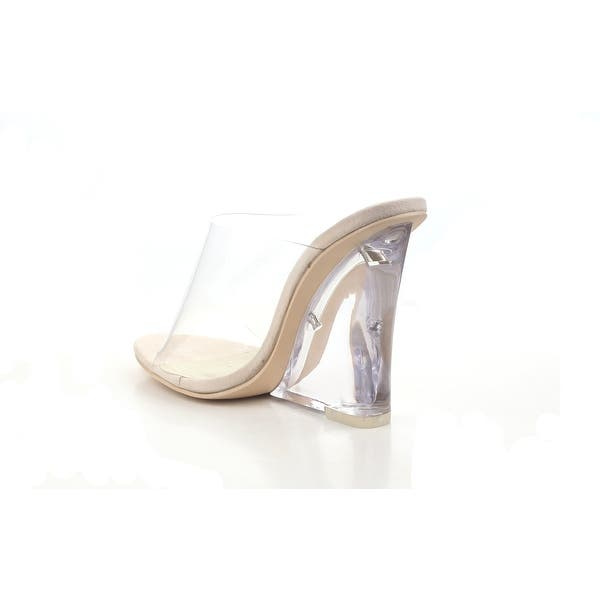 Details about  /Lemonade Clear Band Open Toe Insole Mule Wedge Heeled Sandals Cape Robbin
