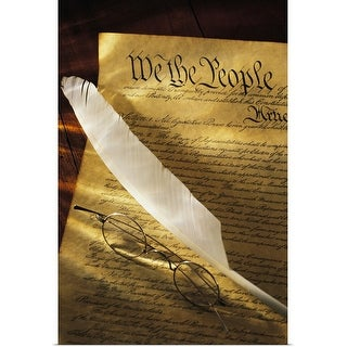 """""""Constitution of the united states of america"""" Poster Print"""